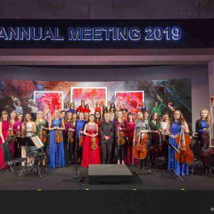 Auf dem Eröffnungskonzert des Weltwirtschaftsforums  2019 in Davos