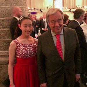 Mit dem Karlspreisträger UNO Generalsekretär António Guterres